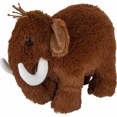 Goedkope pluche bruine mammoet knuffel speelgoed