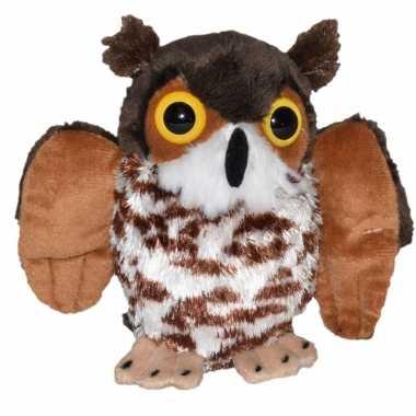 Goedkope pluche bruine oehoe uil knuffel speelgoed