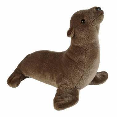 Goedkope pluche bruine zeeleeuw knuffel speelgoed