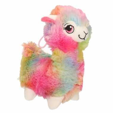 Goedkope pluche gekleurde alpaca/lama knuffel speelgoed