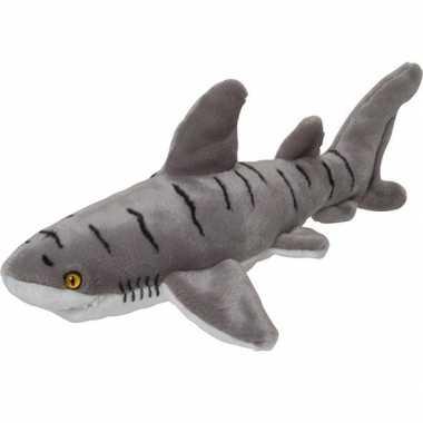 Goedkope pluche grijs gestreepte tijgerhaai knuffel speelgoed