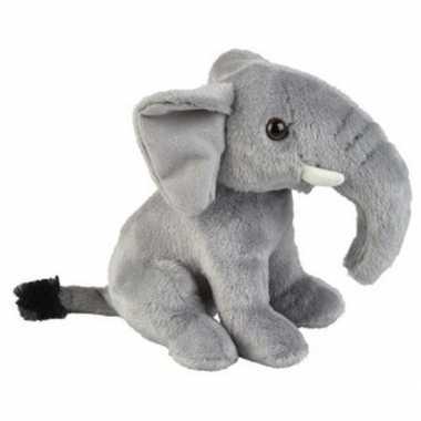 Goedkope pluche grijze zittende olifant knuffel speelgoed