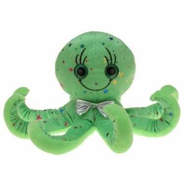 Goedkope pluche groene octopus/inktvis knuffel speelgoed