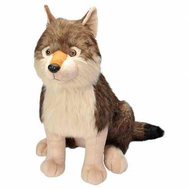 Goedkope pluche grote wolf knuffel