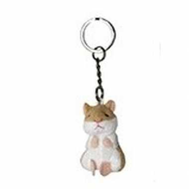 Goedkope pluche hamster knuffel sleutelhanger