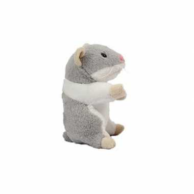 Goedkope pluche hamsters knuffel grijs
