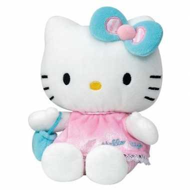 Goedkope pluche hello kitty knuffel roze jurkje