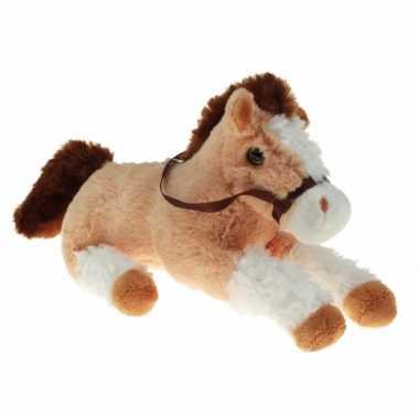 Goedkope pluche knuffel paard beige/wit