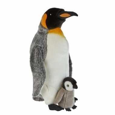 Goedkope pluche koningspinguin knuffel kuiken speelgoed