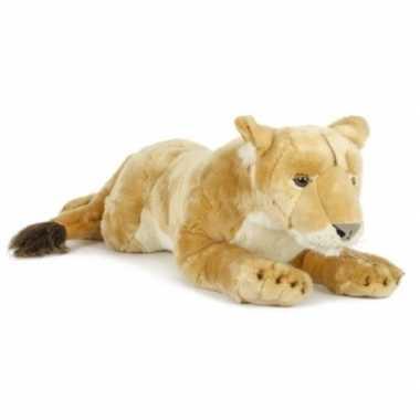 Goedkope pluche leeuwin knuffeldier liggend