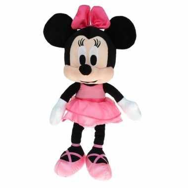 Goedkope pluche minnie mouse knuffel ballerina roze jurk