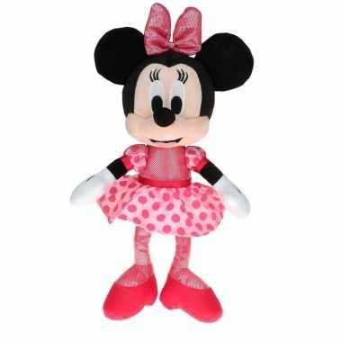Goedkope pluche minnie mouse knuffel ballerina stippen jurk
