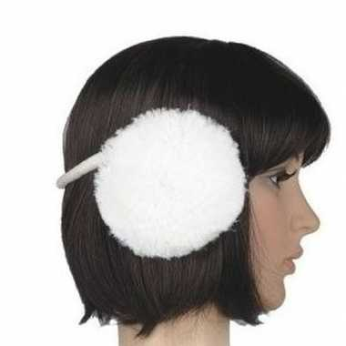 Goedkope pluche oorwarmers wit dames