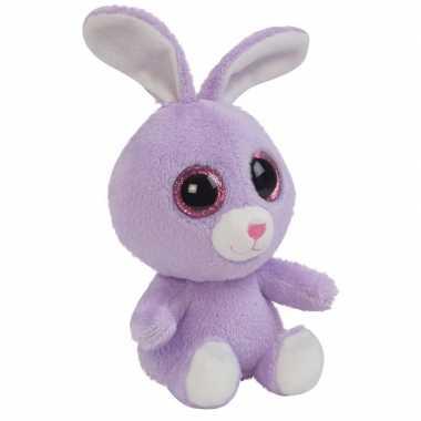 Goedkope pluche paarse konijn/haas knuffeltje