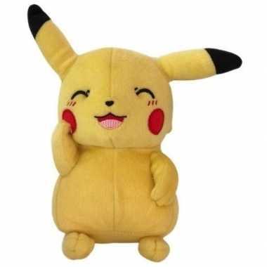 Goedkope pluche pikachu knipoog knuffel speelgoed