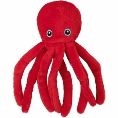 Goedkope pluche rode octopus/inktvis knuffel speelgoed