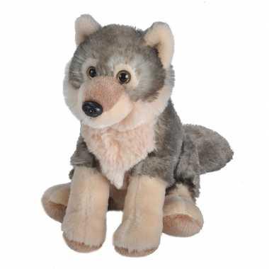 Goedkope pluche wolf knuffel