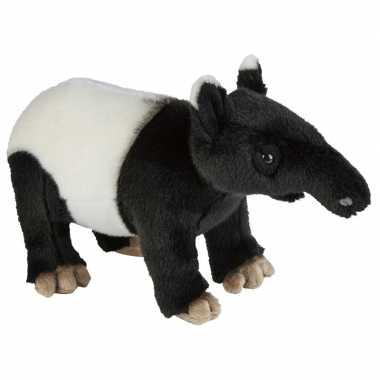 Goedkope pluche zwart/witte tapir knuffel speelgoed