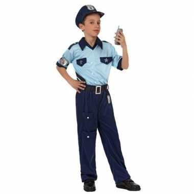 Goedkope politie agent pak / verkleed kostuum jongens