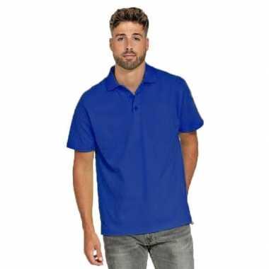 Goedkope polo shirt blauw heren