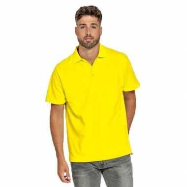 Goedkope polo shirt geel heren
