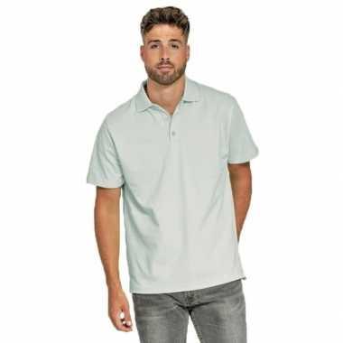 Goedkope polo shirt lichtblauw heren