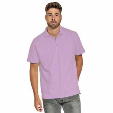 Goedkope polo shirt lila paars heren