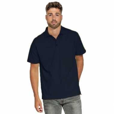 Goedkope polo shirt navyblauw heren