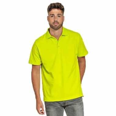 Goedkope polo shirt neon geel heren
