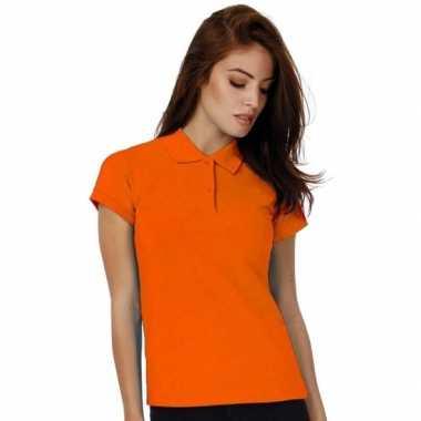 Goedkope polo shirt oranje dames