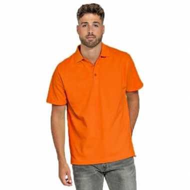 Goedkope polo shirt oranje heren