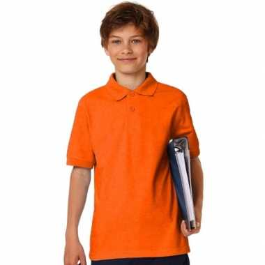 Goedkope polo shirt oranje jongens