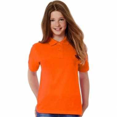 Goedkope polo shirt oranje meisjes