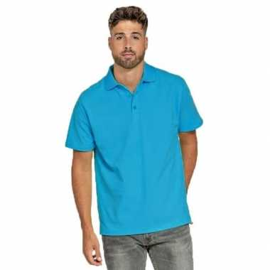 Goedkope polo shirt turquoise heren