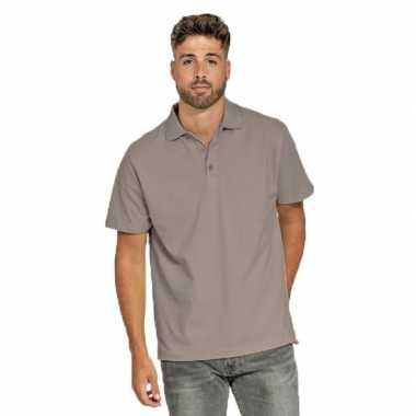 Goedkope polo shirt zilvergrijs heren