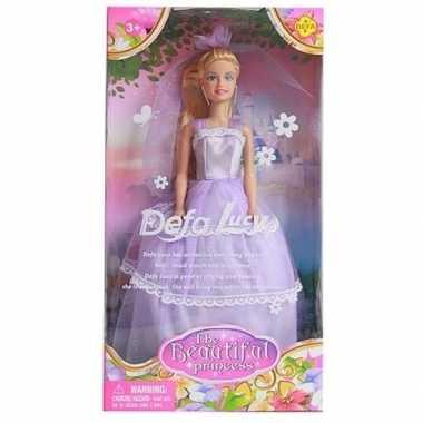 Goedkope pop lucy prinses lila/paarse jurk