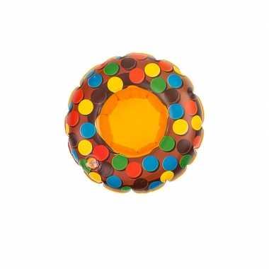 Goedkope poppen/knuffel opblaas zwemband bruin donut