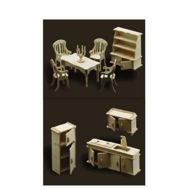 Goedkope poppenhuis meubels keuken eetkamer | Goedkope.info