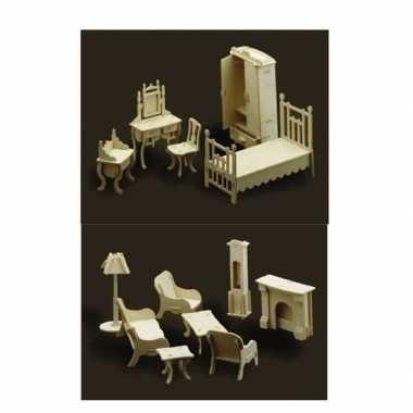 goedkope poppenhuis meubels slaapkamer woonkamer