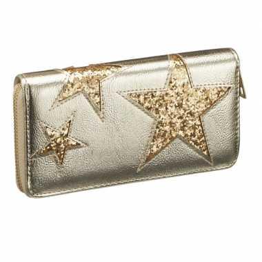 Goedkope portemonnee goud metallic ster