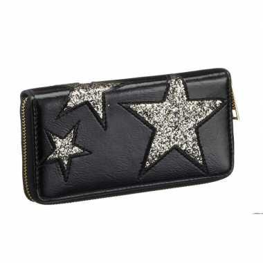 Goedkope portemonnee zwart ster