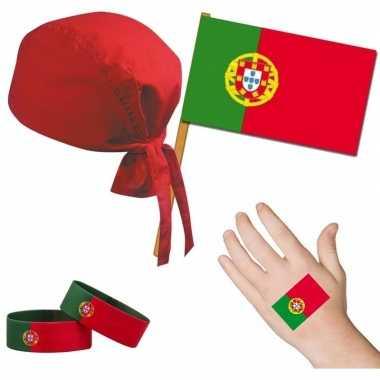 Goedkope portugal/portugees thema verkleed set volwassenen