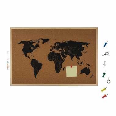 Goedkope prikbord wereldkaart