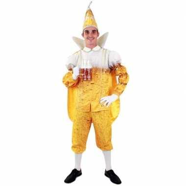 Goedkope prins carnaval pils/bier kostuum heren