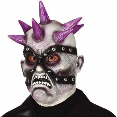 Goedkope punk zombie horror masker latex