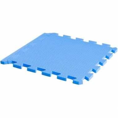 Goedkope puzzel speelmat foam tegels blauw stuks