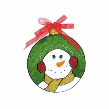 Goedkope raamsticker sneeuwpop
