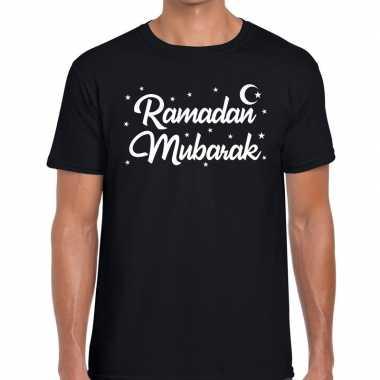 Goedkope ramadan mubarak t shirt zwart heren
