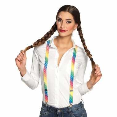 Goedkope regenboog bretels dames
