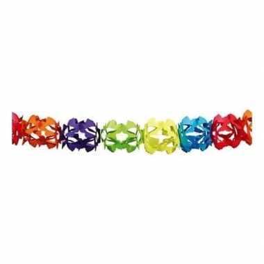 Goedkope regenboog kleuren slinger meter